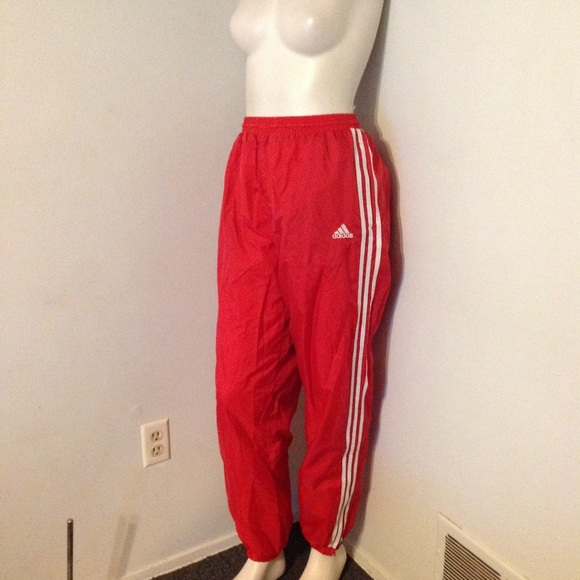 615bf3c137438 Vintage Red Adidas Track Pants Joggers Unisex L